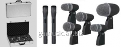 Rent, hire set of microphones for drum set of