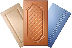 Production of facades of MDF of the PVC covered