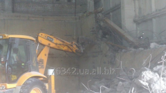 Rent of a loader of jcb with a hydrohammer