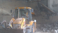 Hire of the excavator with a hydrohammer
