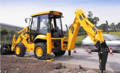 Rent of the excavator loader with a hydrohammer