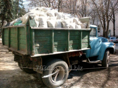 Garbage removal in bags