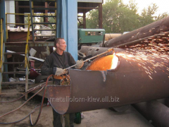 Cutting of a metalwork of any complexity