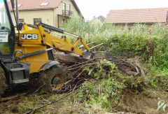 Preparation of a site for construction