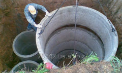 Device, mounting of septic tanks and cesspools