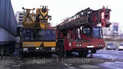 Rent of the truck crane arrow of 35 m