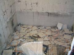 Dismantle of tile