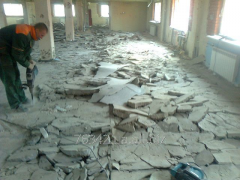 Removal of a tie of a floor