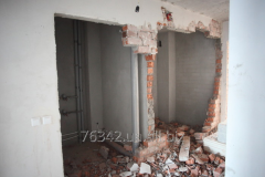 Demolition of wall in the apartmen