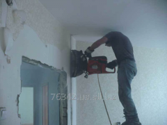 Cutting of walls