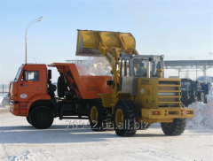 Expeditious cleaning and export of snow