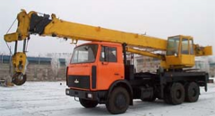 Repair of cranes automobile