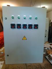 Сборка шкафов управления, с использованием частотных преобразователей или без.