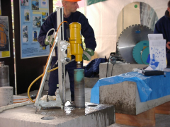 Diamond drilling of openings in concrete