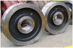 Production of crane wheels, wheels for trolleys
