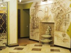 Художественная лепка,фактура,бареельеф,роспись стен и потолков