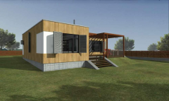 Construction of the house from straw of modular