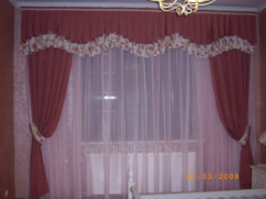 Production of curtains with an ornamen