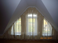 Design of curtains from dense fabrics