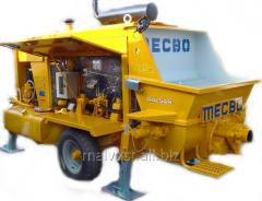 Rent of the Mecbo 4.65 concrete pump