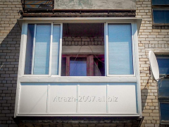 Glazing of balconies and loggias, Kharkiv