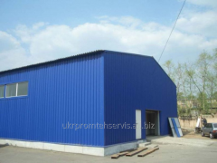 Hangars, warehouses, workshops, buildings for