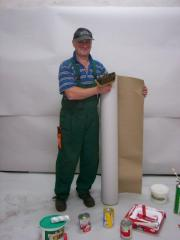 Painting cardboard for protection of a floor,