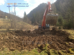 Planning of the territory excavators loaders, to