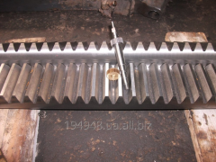 Production of gear laths