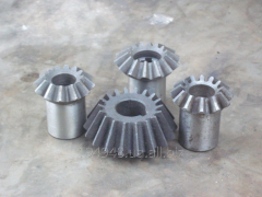 Production of conic gear wheels under the order