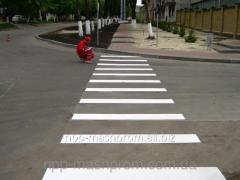 Разметка краской дорожной