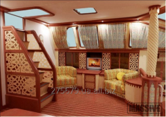 Design of insides of yachts