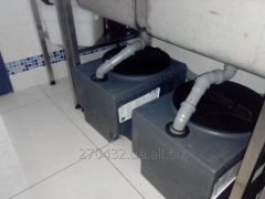 Монтаж отделителя жиров aquaClean
