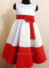 Hire of a children's festive Bow dress.