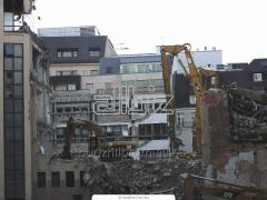 Dismantle of constructions brick. concrete, metal