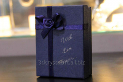 Laser engraving on a gift box