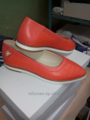 Production of footwear from genuine leather by