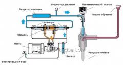 Hydroabrasive cutting