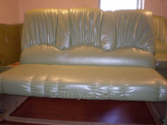 Banner of upholstered furniture: sofas, chairs and