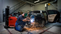 Welding works of the car