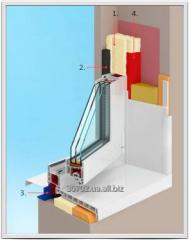 Теплый монтаж металлопластиковых окон от 450 грн/м2