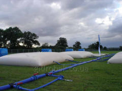 Rent of flexible tanks for water and liquid