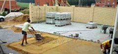 Laying of paving slabs from Lubnobruk