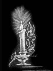 Художественная гравировка Свечи