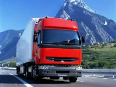 The international container transport from