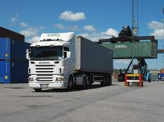 The international container transport from the