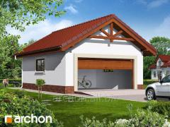 Projects of garages, canopies G6b - Double garage