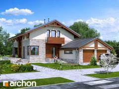 Проекты домов с гаражом на 2 машины Дом под черным деревом Archon