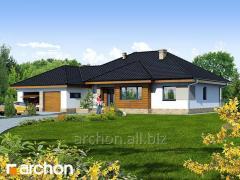 Проекты домов с гаражом на 2 машины2 Дом в акебиях 2 Archon