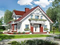 Проекты домов с подвалом Дом в геликониях П Archon